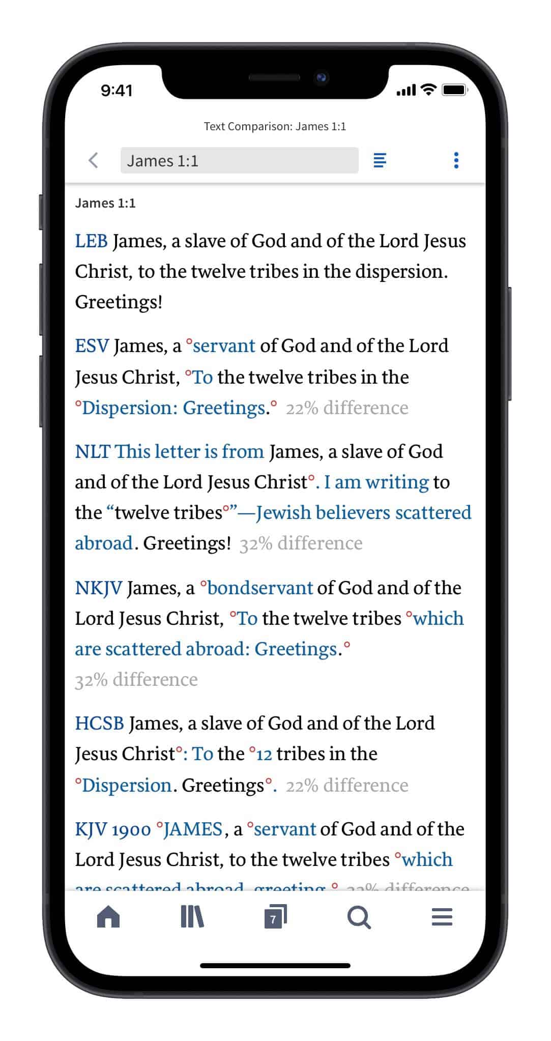 Comparison of Bible translations for James 1:1