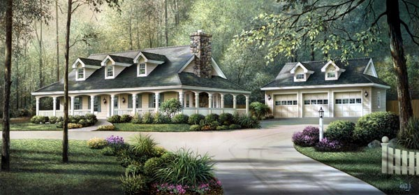 Amazing Country Home Plans With Wraparound Porches