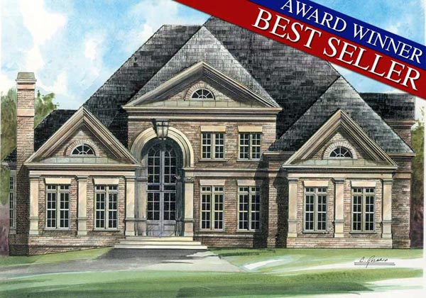 Our most popular greek revival house plan family home for Most popular house plans