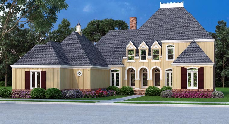New European Style House Plan