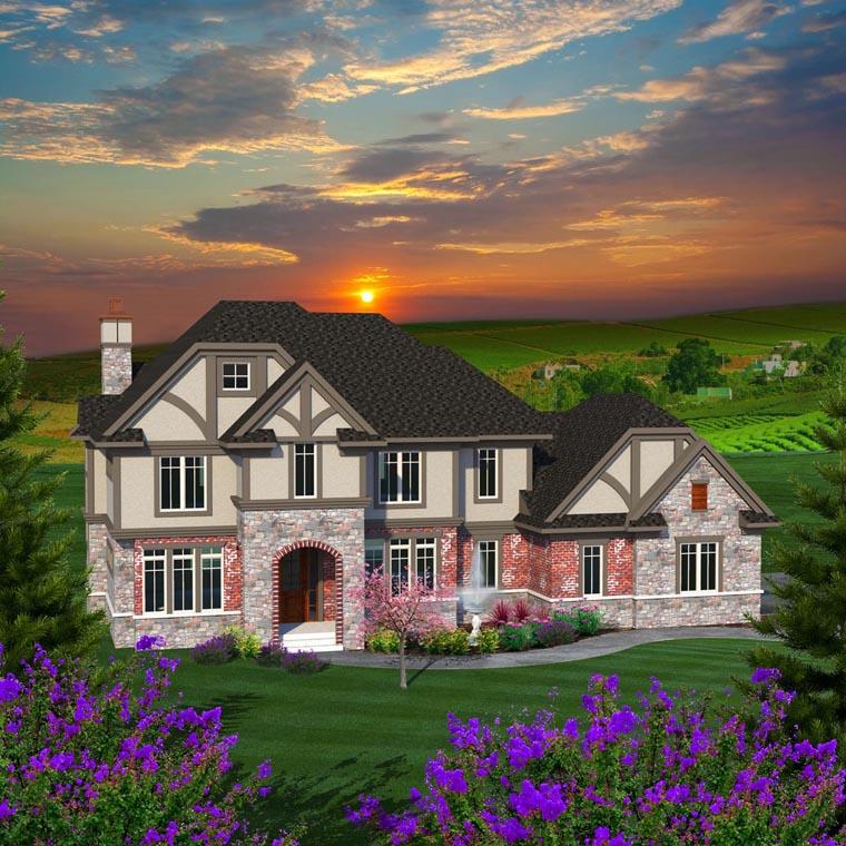 Luxury tudor house plan family home plans blog for Tudor mansion plans