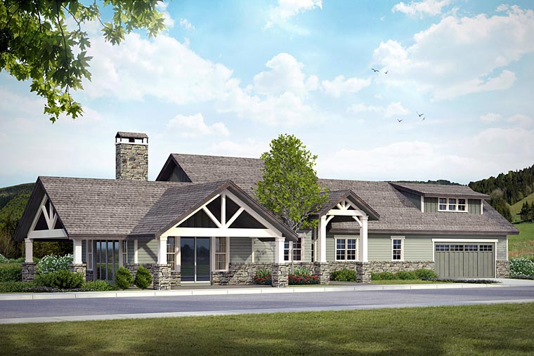 Craftsman ranch house plan with photos family home plans for Ranch house blog