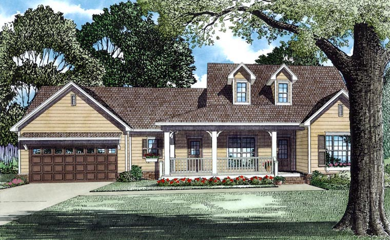 3 Bedroom Country Style House Plans - Family Home Plans Blog