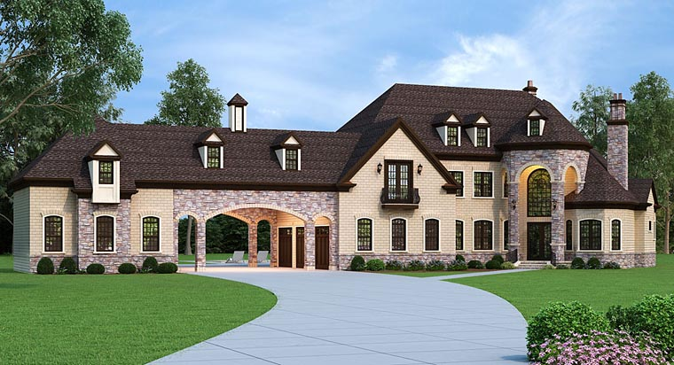 French Country House Plan with 5 Bedrooms Family Home Plans Blog