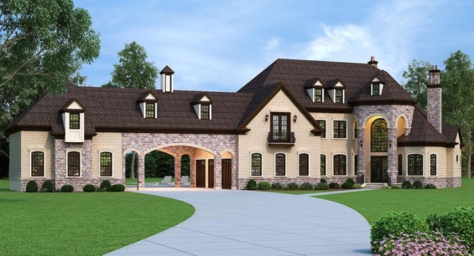 Family home plans articles and news family home plans blog for French country house plans with porte cochere