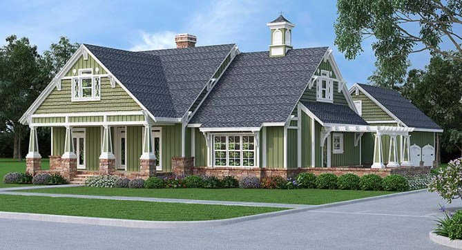 New Craftsman House Plan with Storybook Charm