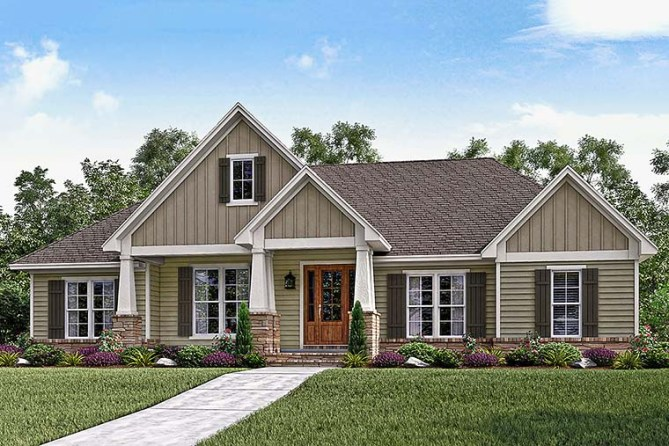 New Craftsman House Plans 3 Bedroom 2.5 Bath