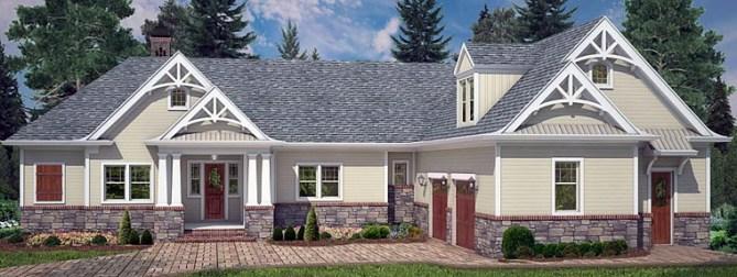 4 bedroom, 3.5 bath Craftsman House Plan