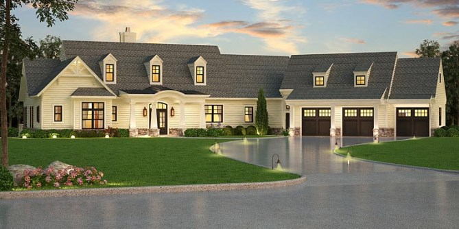 Traditional 3 Bedroom House Plan with Future In-Law Suite