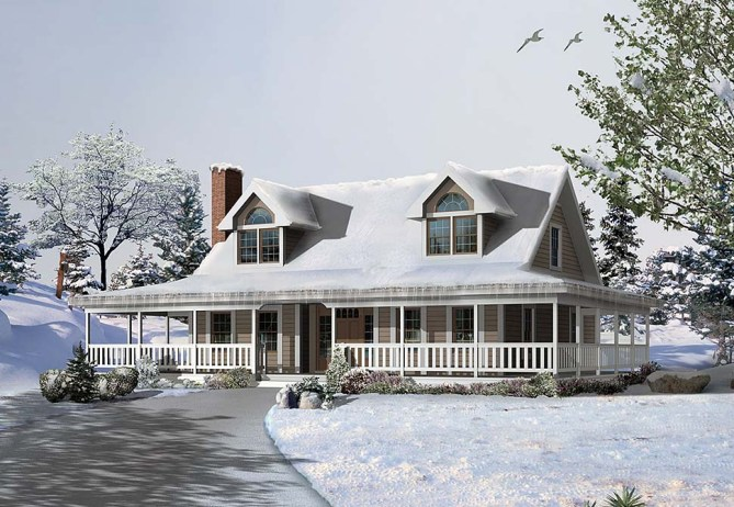 New Farmhouse Plan With 2,112 Square Feet