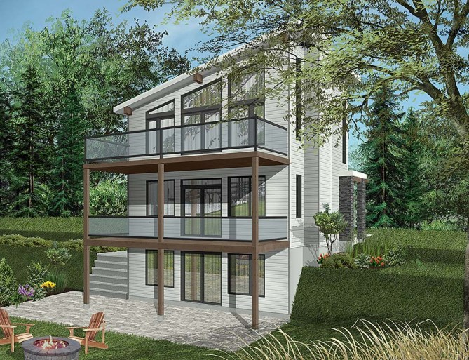 New Modern Home Plan With 1344 SQ FT