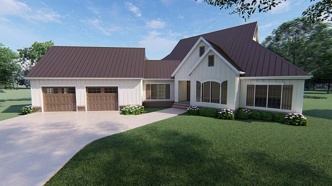 Country Home Plan With 3000 Square Feet