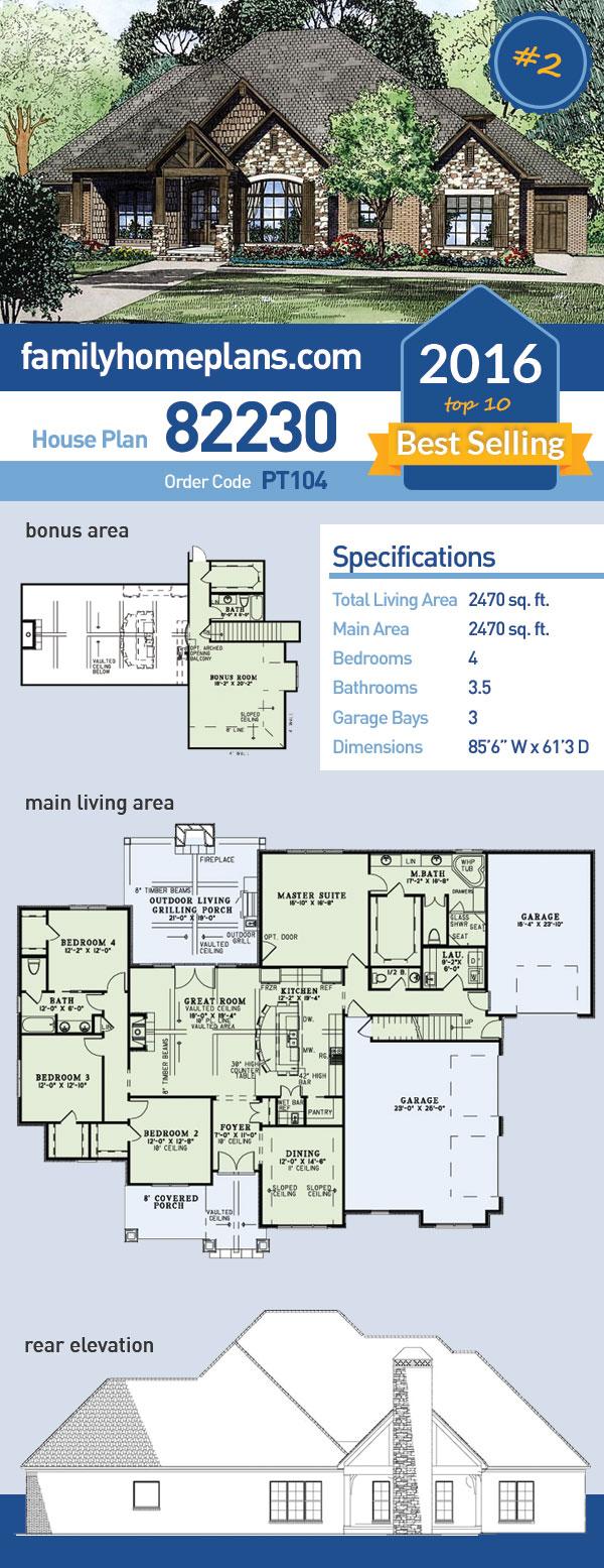 Superb 4 Bedroom Craftsman House Plan Now With Interior Photos Interior Design Ideas Apansoteloinfo