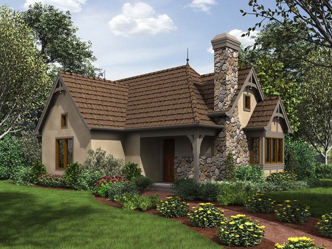 Tudor Style Small House Plan With Photos