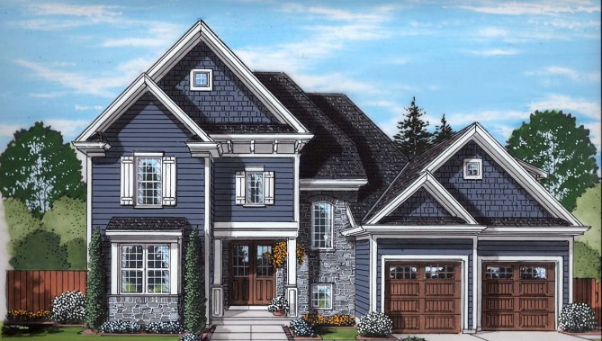 4 Bedroom New Traditional Style House Plan With 3246 Square Feet