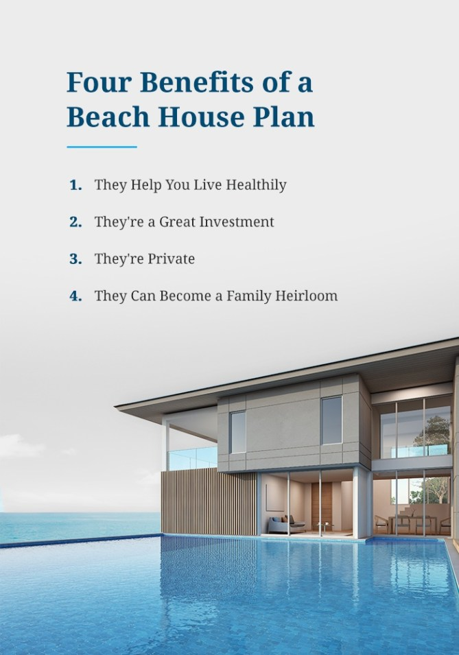 4 Benefits of a Beach House Plan