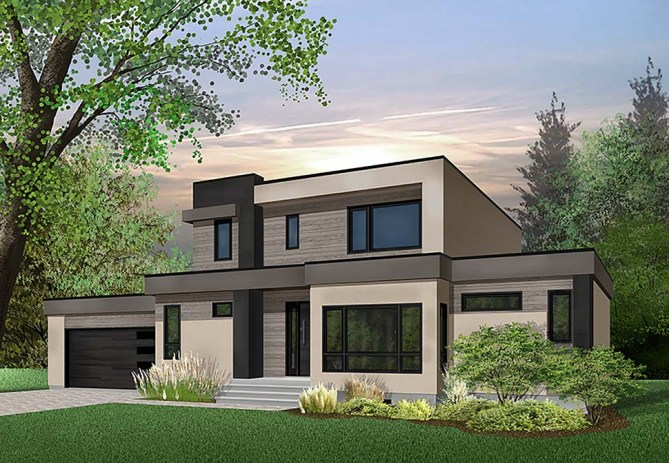 4 Bedroom Contemporary Home Plan With Minimalist Style