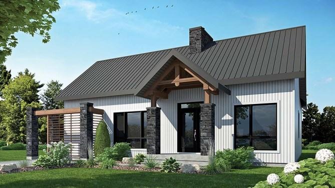 2 Bedroom Scandinavian Style Contemporary House Plan