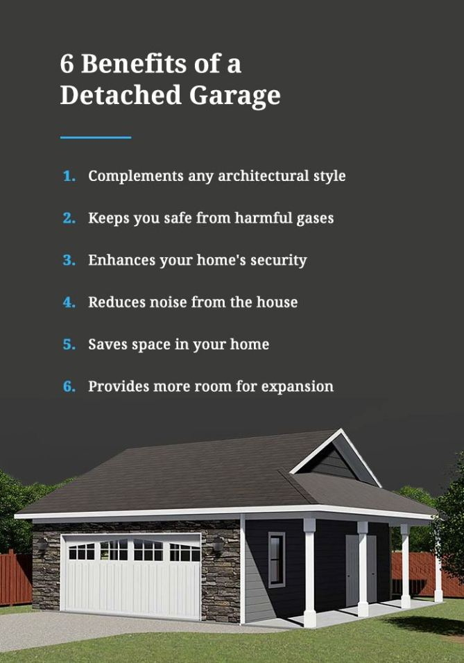 List of benefits of a detached garage
