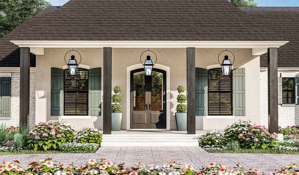 Front Porch Acadian Style House Plan