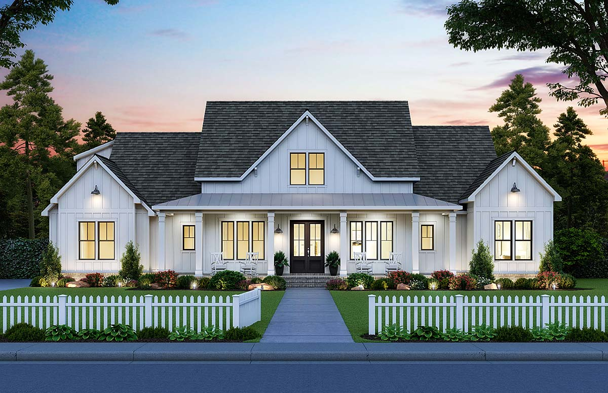 4 Bedroom Country House Plan