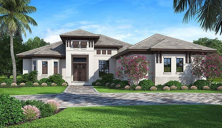 4 Bedroom Mediterranean Style House Plan
