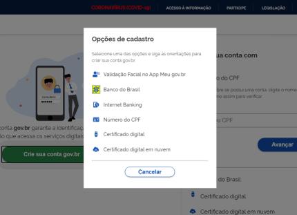 Cadastro do certificado digital para enviar o LCDPR