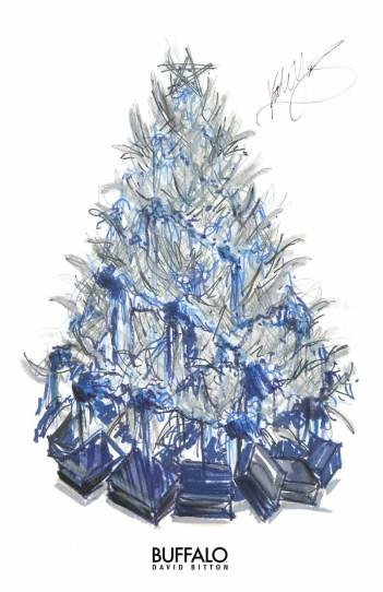 Buffalo Holiday tree kate young 01