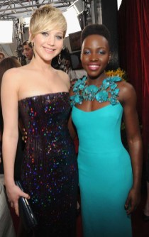 Jennifer Lawrence in Dior-Lupita Nyongo in Gucci