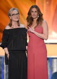 Meryl Streep in Stella McCartney and Julia Roberts in Valentino