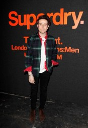 LONDON, ENGLAND - JANUARY 07: Nick Grimshaw arrives at the Superdry AW14 catwalk event as part of London Collections: Men at The Old Sorting Office on January 7, 2014 in London, England. (Photo by David M. Benett/Getty Images for Superdry) *** Local Caption *** Nick Grimshaw