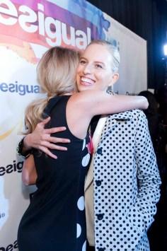 Candice Swanepoel and Karolina Kukova