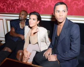 Olivier Rousteing, Kim Kardashian, Kanye West