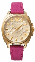 COACH GOLDTONE CASE WITH LOGO DIAL WATCH $198