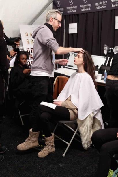 Taoray Wang - Backstage - Mercedes-Benz Fashion Week Fall 2015