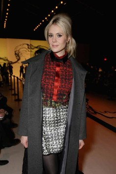 Kate Nash 2 in LIE SANGBONG Coat, Top, and LIE Skirt
