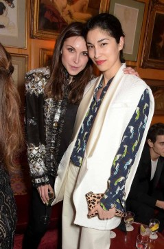 LONDON, ENGLAND - MARCH 16: Caroline Issa (R) attends the dinner, hosted by Olivier Rousteing, to mark the opening of Balmain's first London store, at Annabel's on March 16, 2015 in London, England. (Photo by David M. Benett/Getty Images for Balmain) *** Local Caption *** Caroline Issa