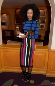 LONDON, ENGLAND - MARCH 16: Julia Sarr-Jamois attends the dinner, hosted by Olivier Rousteing, to mark the opening of Balmain's first London store, at Annabel's on March 16, 2015 in London, England. (Photo by David M. Benett/Getty Images for Balmain) *** Local Caption *** Julia Sarr-Jamois