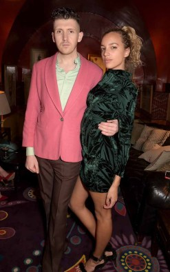 LONDON, ENGLAND - MARCH 16: Matthew Stone and Phoebe Collings-James attend a party hosted by Olivier Rousteing, to mark the opening of Balmain's first London store, at Annabel's on March 16, 2015 in London, England. (Photo by David M. Benett/Getty Images for Balmain) *** Local Caption *** Matthew Stone; Phoebe Collings-James
