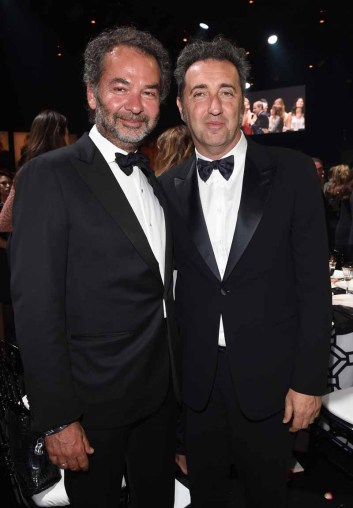 Moncler Chairman Remo Ruffini and director Paolo Sorrentino