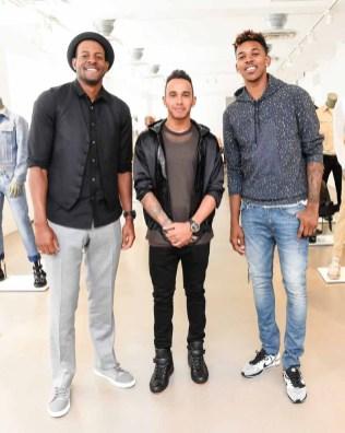 Andre Iguodala, Lewis Hamilton, Nick Young