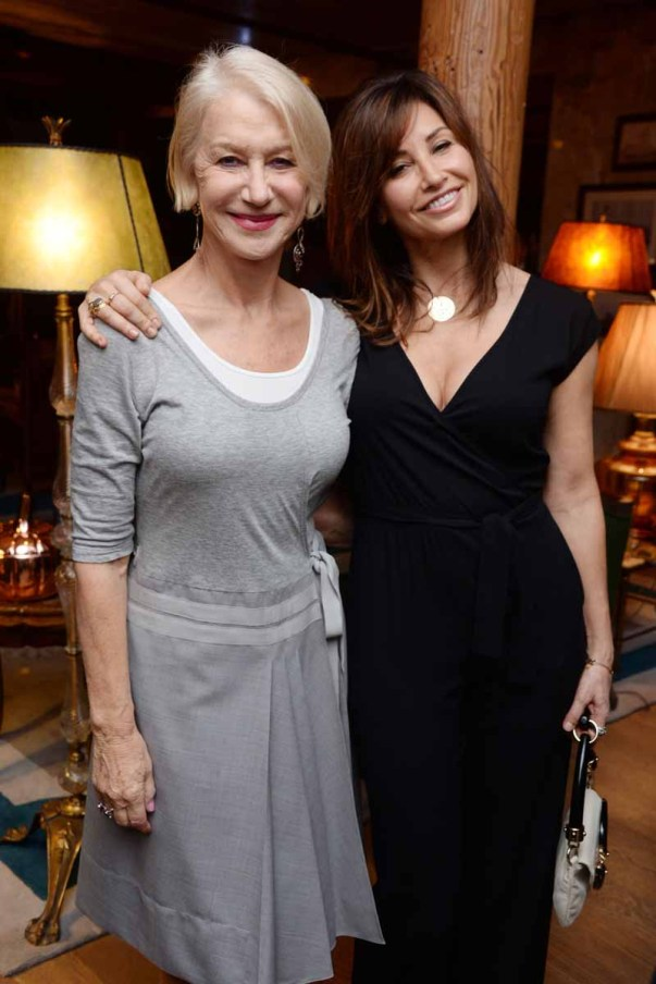 Helen Mirren, Gina Gershon== A Celebration for Bryan Cranston== December 9, 2015== House of Elyx, NYC== ©Patrick McMullan== Photo - Clint Spaulding / PMC== ==