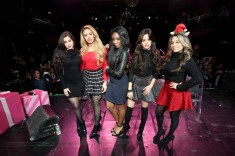 NEW YORK, NY - DECEMBER 10: (L-R) Camila Cabello, Dinah Jane, Normani Kordei Lauren Jauregui and Ally Brooke Hernandez of Fifth Harmony pose at The Candie's Winter Bash on December 10, 2015 in New York City. (Photo by Cindy Ord/Getty Images for Candie's)