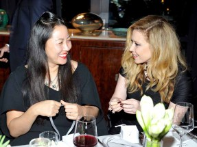 LOS ANGELES, CA - JANUARY 13: Designer Carol Lim (L) and actress Natasha Lyonne attend the Galvan For Opening Ceremony Dinner Hosted By Swarovski at Private Residence on January 13, 2016 in Los Angeles, California. (Photo by Donato Sardella/Getty Images for Galvan)