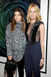 LOS ANGELES, CA - JANUARY 13: Stylist Jamie Schneider (L) and Galvan's Katherine Holmgren attend the Galvan For Opening Ceremony Dinner Hosted By Swarovski at Private Residence on January 13, 2016 in Los Angeles, California. (Photo by Donato Sardella/Getty Images for Galvan)