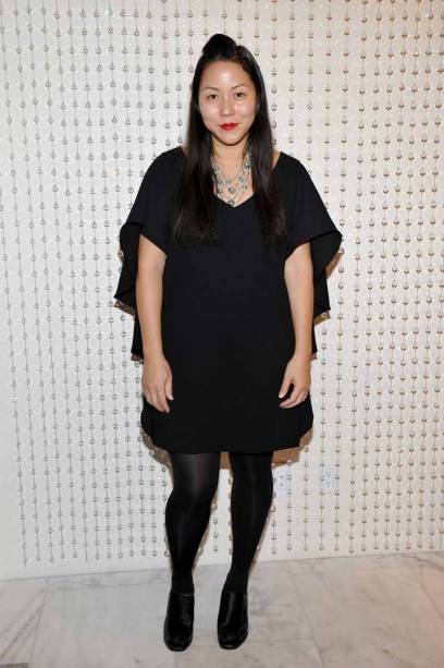 LOS ANGELES, CA - JANUARY 13: Designer Carol Lim attends the Galvan For Opening Ceremony Dinner Hosted By Swarovski at Private Residence on January 13, 2016 in Los Angeles, California. (Photo by Donato Sardella/Getty Images for Galvan)