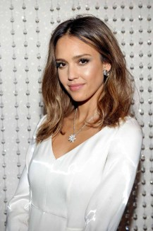 LOS ANGELES, CA - JANUARY 13: Actress Jessica Alba attends the Galvan For Opening Ceremony Dinner Hosted By Swarovski at Private Residence on January 13, 2016 in Los Angeles, California. (Photo by Donato Sardella/Getty Images for Galvan)