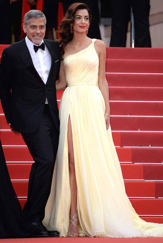 CANNES, FRANCE - MAY 12: George Clooney and his wife Amal Clooney attend the 'Money Monster' premiere during the 69th annual Cannes Film Festival at the Palais des Festivals on May 12, 2016 in Cannes, France. (Photo by Anthony Harvey/FilmMagic)