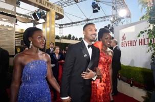 Lupita Nyong'o, Michael B. Jordan and Danai Gurira