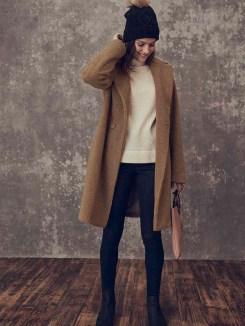 Long Tall Sally Teddy Bear Coat Model